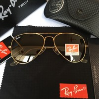 Ray Ban Fashion Sunglasses RB3025 Gold/Brown