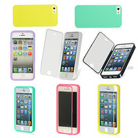 For Apple iPhone 5 5S TPU Wrap Up Case With Built in Screen Protector