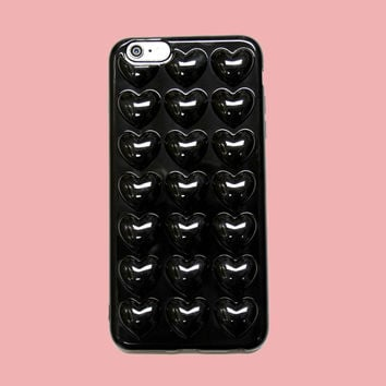Black Hearts 3D iPhone Case