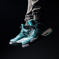 """Ready Stock"" aj4 Air Jordan 4 Retro Teal Men Sneaker"