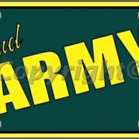 Proud Army Dad  Tag License Plate