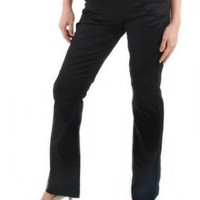 Straight Cut Maternity Pants {Black}