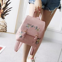 LEFTSIDE Fashion Pink Color Vintage Backpack PU Leather Casual Women Backpack Schoolbag Feminine backpack for Teenage Girl Small