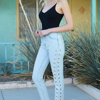 Kendall and Kylie Flutter Mom Jeans at PacSun.com