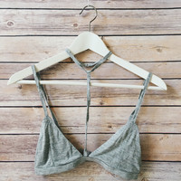 Choker Triangle Bralette (Heather Gray)