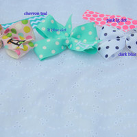 initialed hair bow