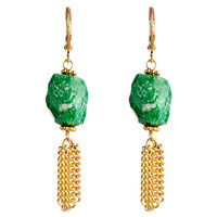 Russian Amazonite Tassel Earrings, Drops Earrings
