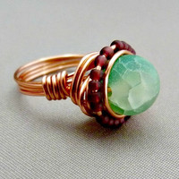GBK's MTV Movie Awards Gift Lounge, Press Gift Replica - Raw Green Agate Ring