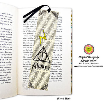 Deathly Hallows bookmark-quote bookmark-literary bookmark-favor bookmark-always bookmark-Harry Potter bookmark-by NATURA PICTA BKMK009