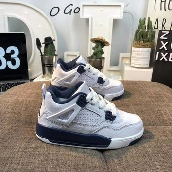 "Air Jordan 4 ""Columbia"" Toddler Kid Shoes Child Sneakers - Best Deal Online"