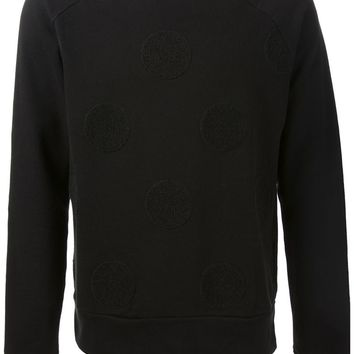 Ami Alexandre Mattiussi polka dot embroidered sweatshirt