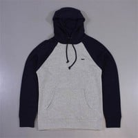Obey Courtside Hooded Pullover Ash Grey Navy