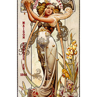 Theophile Roederer Champagne Advertisement by Louis-Theophile Hingre Fine Art Print