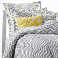 Gray Chevron Dorm Comforter - Full Size Only Left