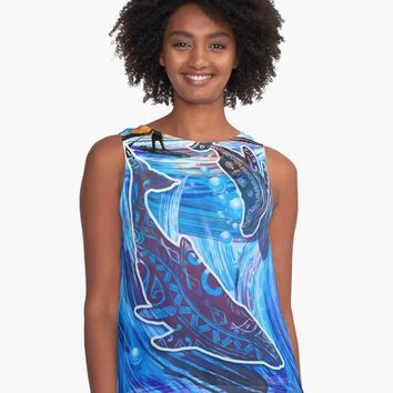 """Whales Tale"" A-Line Dress by sunnthreads 