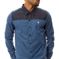 LRG Shirt New Age Don LS Buttondown in Ford Blue