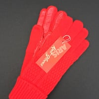 Gloves Women's Red Aris Vintage New in Box with Tags