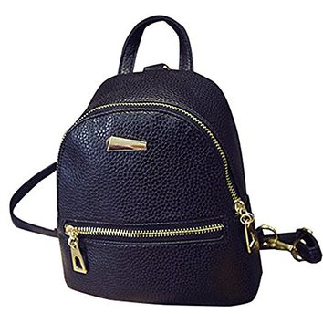 Shoulder Bag PU Leather Backpack Travel Daypack,Girls Backpack School bag