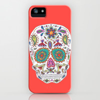 Red Sugar Skull iPhone & iPod Case by Taylor Halle | Society6