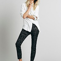 Free People Womens Copperhead Flocked Skinny