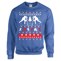 Ice Hockey Christmas Ugly Sweater - Sweatshirt