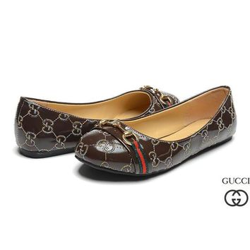 GUCCI Women Fashion Logo Flats Shoes-1