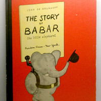 1960 The Story of Babar Vintage Childrens Book by VintageWoods