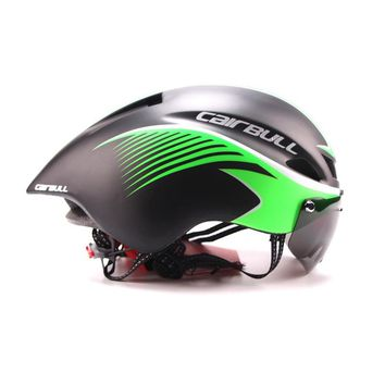 New 290g Aero TT Bike Helmet With Goggles Road Cycling Bicycle Sports Safety Helmet Riding Mens Racing In-Mold Time-Trial Helmet