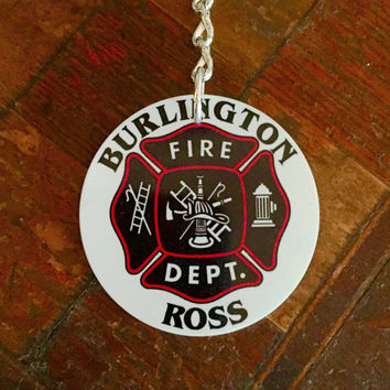 Personalized Fire Deparment Aluminum Keychain