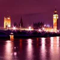 Big Ben Houses of Parliament London Wall by HConwayPhotography