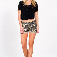 Junior Camo Mid-Rise Shorts