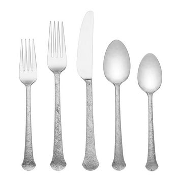 Lenox Rockwood Silver Stainless Steel Flatware (Case of 22) | Overstock.com Shopping - The Best Deals on Flatware Sets