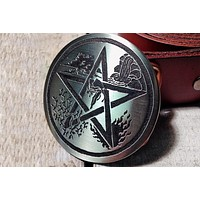 Wiccan Pentacle PENTAGRAM Belt Buckle