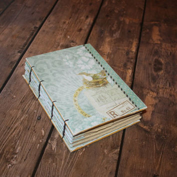 Victorian Bird Journal- Bird watcher - Guest Book - Housewarming Gift