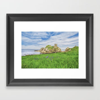 The old castle of Kinbane Framed Art Print by Peaky40