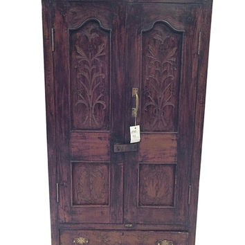 Vintage Armoire Teak , British colonial, Shabby Chic, Cabinet , Armoire (Bedroom Storage)