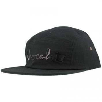 Chocolate Skateboards Chocolate Chunk Rip Stop 5 Panel Hat - Black