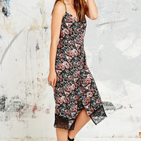 Pins & Needles Floral Button-Through Midi Dress - Urban Outfitters