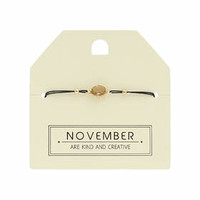 November Birthstone Bracelet - Brown