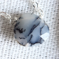 """28 - Dendritic Opal 18"""" Sterling Chain - Flash Sale Pricing"""