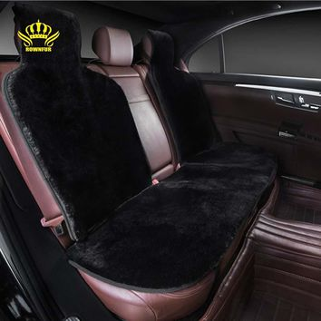 Car interior accessories Car seat covers faux fur cute cushion styling   plush car pad seat cover FOR BACK COVERS 2016 NEW IH01