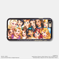 Funny Disney Princess Take Selfie Free Shipping iPhone 6 6Plus case iPhone 5s case iPhone 5C case iPhone 4 4S case Samsung galaxy Note 2 Note 3 Note 4 S3 S4 S5 case 828