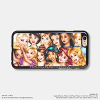 Funny Disney Princess Take Selfie iPhone Case Black Hard case 828