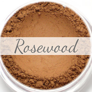 "Eyeshadow Sample - ""Rosewood"" - medium warm toned brown/tan color with matte finish (Vegan) Mineral Makeup Eye Color Pigment"