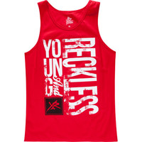 Young & Reckless Sideways Reckless Mens Tank Red  In Sizes