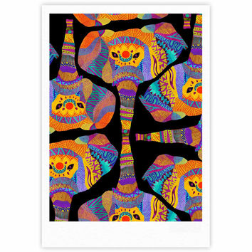 "Pom Graphic Design ""The Elephant In The Room"" Rainbow Tribal Fine Art Gallery Print"