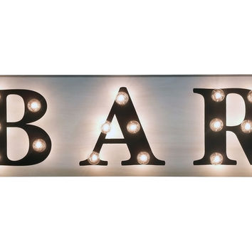 Marquee Light Up Bar Sign Signs