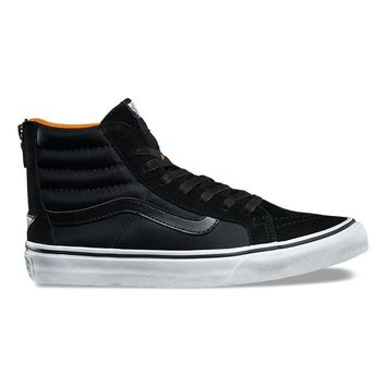 spbest VANS BOOM BOOM SK8-HI SLIM ZIP - BLACK/TRUE WHITE