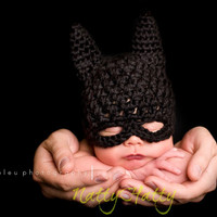 Batman hat, crochet batman hat, batman childrens hat,  costume batman hat, costume  batman