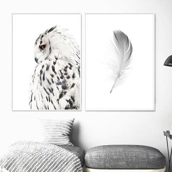 Posters And Prints Animals Wall Art Canvas Painting Nordic Poster Canvas Art Wall Pictures For Living Room Nordic Owl Decoration